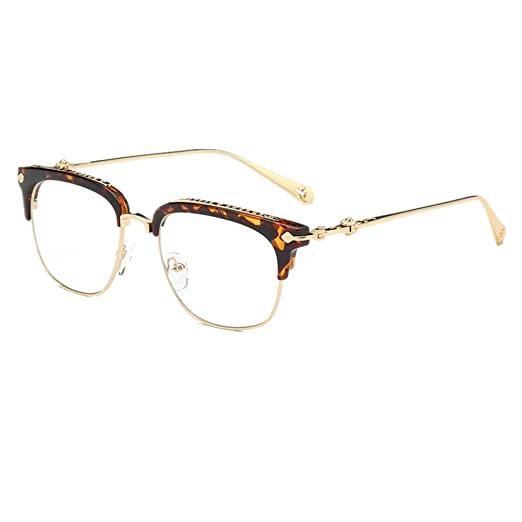 befdbfcd8f Shiratori Classic Vintage Retro Half Frame Horn Rimmed Clubmaster Optics  50mm Clear Lens Glasses Beans