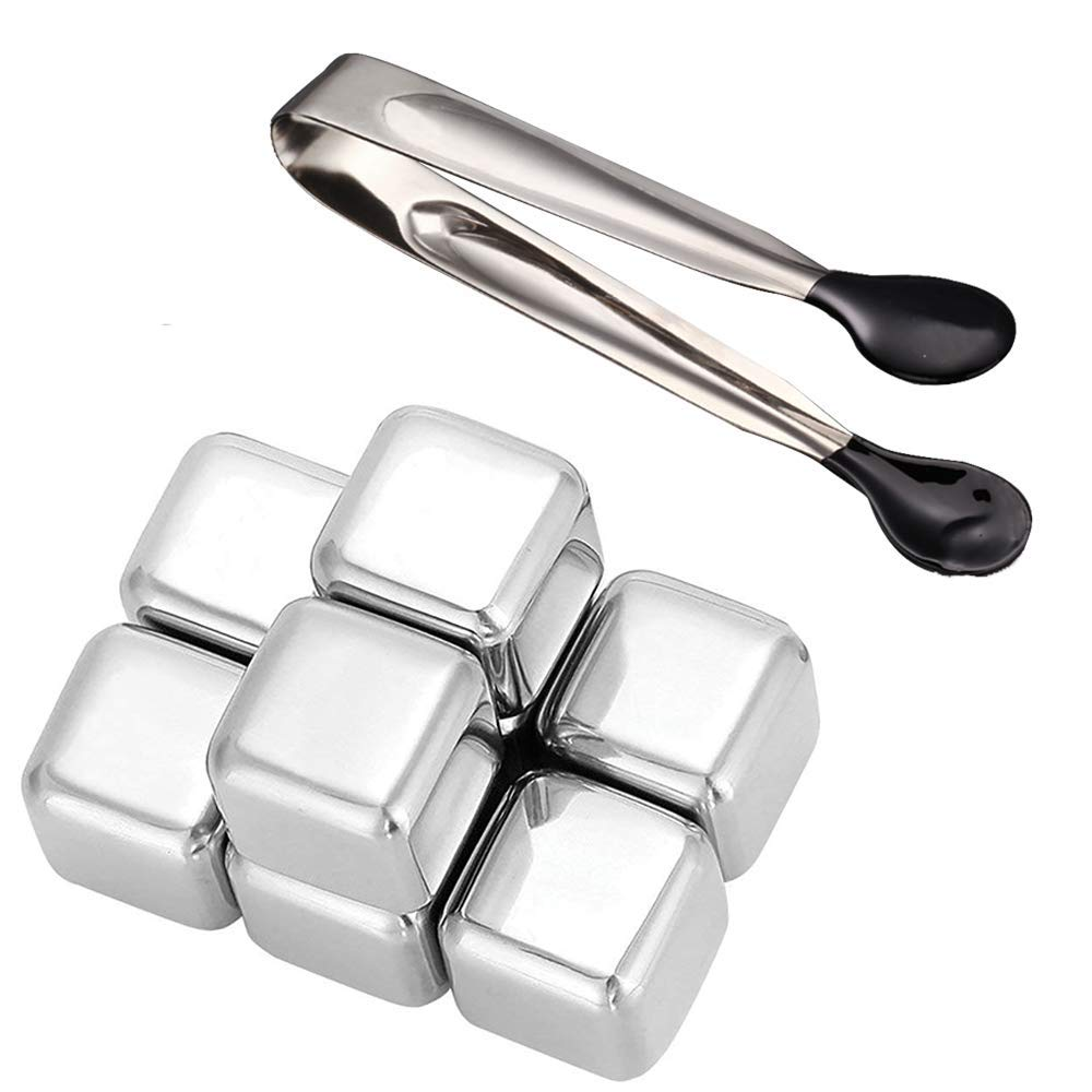 8 stainless steel ice cube whiskey stone reusable icy rock rock for wine beer drinks