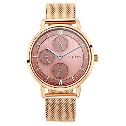 Titan Neo Analog Rose Gold Dial Women's Watch 2652WM01