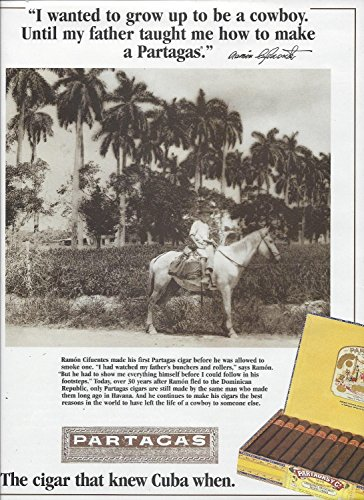 (MAGAZINE A For Partagas Cuban Cigars 1995 I Wanted To Be A)