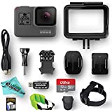 GoPro HERO5 Black ESSENTIAL VALUE bundle w/ 32GB Memory Card, Card Reader, Screen Protectors, Head Strap, Liquid Deals Exclusive Camera Cleaning Cloth