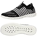 ALEADER Women's Hydro Lite-Knit Slip-On Water Shoes Black 8.5 D(M) US