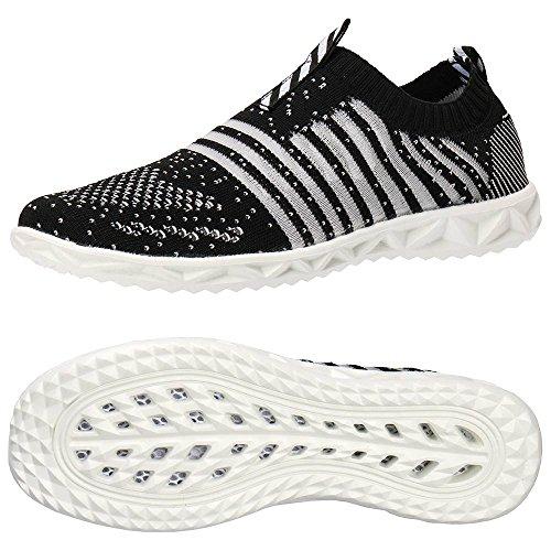 ec78035f188b6a Aleader Women's Hydro Lite-Knit Slip-On Water Shoes Black 9 D(M) Us