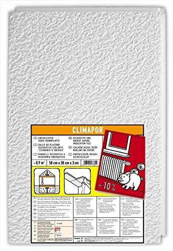 CLIMAPOR D/ämmplatte 10 Faltplatten = 20 qm wei/ß 2,5 x 0,8 m x 6 mm