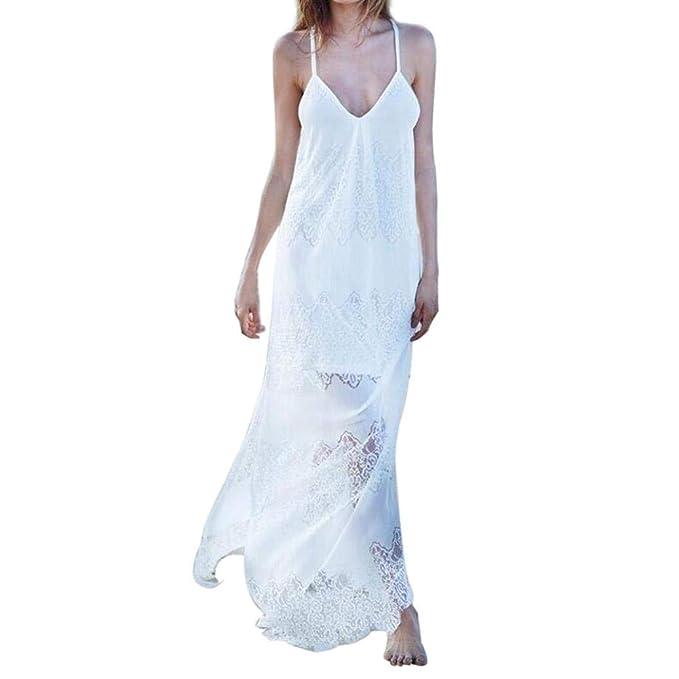 Overdose Vestido De Dama Honor Sin Tirantes del Verano La Playa Las Mujeres Atractivas áNgel Vacaciones