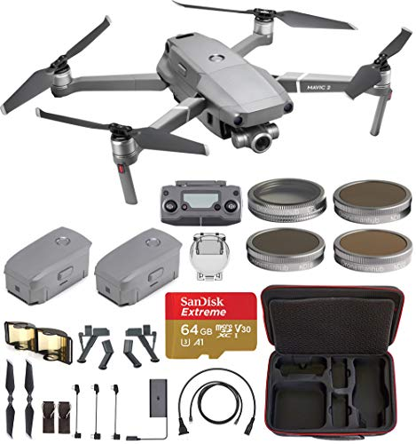 - DJI Mavic 2 Zoom with One Extra Battery with Hard Professional Case, ND Filters Set and More