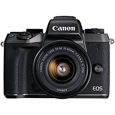 Canon EOS M5 Mirrorless Camera Kit 15-45mm Lens Kit Wi-Fi Enabled & Bluetooth