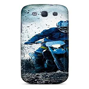 Hot Tpu Cover Case For Galaxy/ S3 Case Cover Skin - Dirt Race