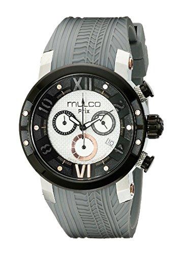 MULCO Men's MW5-3219-021 Prix Tire Analog Display Swiss Quartz Grey Watch