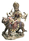 Ebros Hindu Goddess Devi Invincible Durga The Mahashakti Riding On Tiger Statue Eastern Enlightenment Hinduism Altar Sculpture