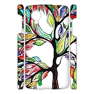 Canting_Good,colorful trees, Custom Case for Google Nexus 5 3D