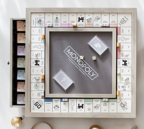 Monopoly Luxe Edition Hasboro White Gold