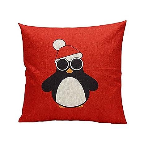 Speedmar - Funda de cojín (Lino), diseño de pingüino, Color ...