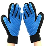 Pet Grooming Glove Gentle De-Shedding Brush for Dogs & Cats with Long & Short Fur Hair Removal Mitt Comfortable Massage Tool Light Blue 1 Pair Your Pet Will Love It