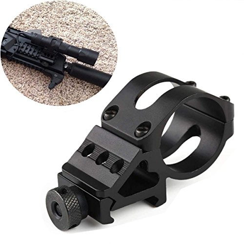 (Ulako Flashlight Offset Ring Side Gun Mount for Laser Flashlight Torch)