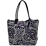 quilted fabric bags - Ngil Quilted Cotton Medium Tote Bag 2018 Spring Collection (Paisley Park Purple)