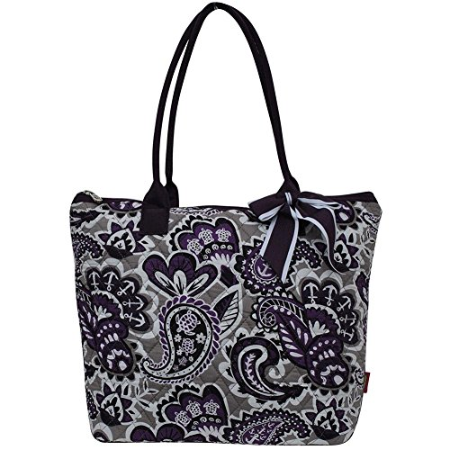 Ngil Quilted Cotton Medium Tote Bag 2018 Spring Collection (Paisley Park ()