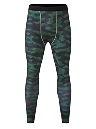 ANDYOU-Men Traje de camuflaje de color Active Yoga Legging ...