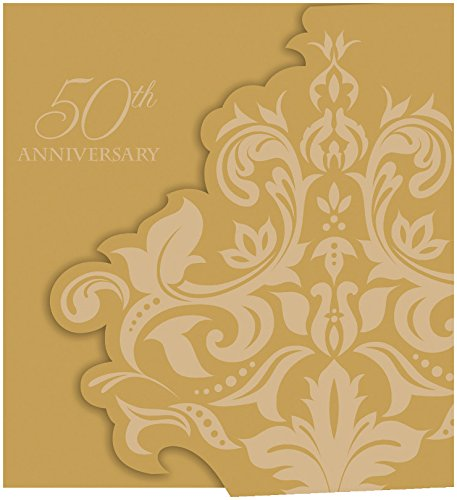 Creative Converting 25 Count Golden Anniversary Gatefold Invitations, Gold