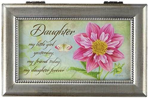 Carson Home Accents 18283 Daughter Jane Shaky Music Box, 6-Inch by 4-Inch by 2-1/2-Inch