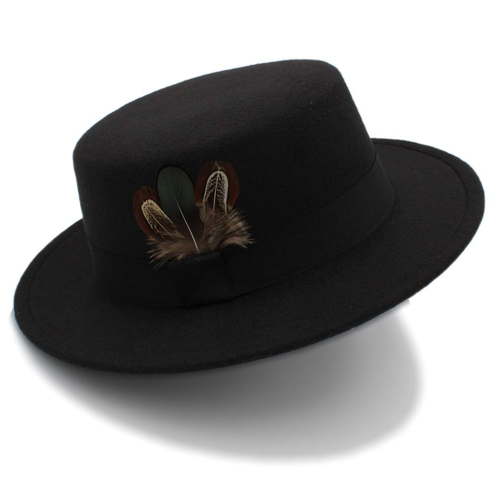 25bb04c77e6 New Pork Pie Hat Men Tan Wool Fedora Hats Winter Bowler Women Brown Felt  Fedoras Hat Ribbon Bowknot Top Woolen Caps Wholesale (Color   Black