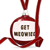 Christmas Decoration Get Meowied Cheetah Cat Animal Print Ornament
