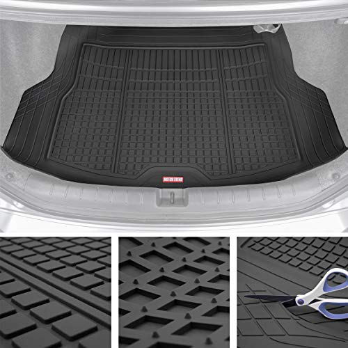 Motor Trend Premium FlexTough All-Protection Cargo Mat Liner - w/Traction Grips & Fresh Design (Nissan Versa 2011 Cargo Cover)