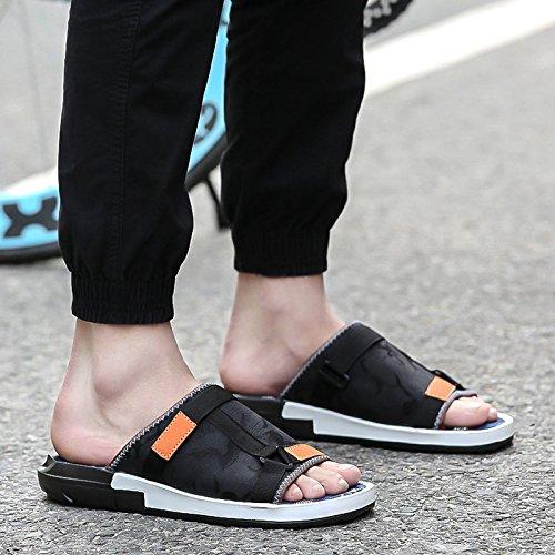Percé Couleur Lutte Chaussures Chaussons Open Occasionnels xing Tongs Hommes Plage Bas D'Été De En 188 lin Tendance Men'S Soft Toe Pour Sandales 7zv6xzn