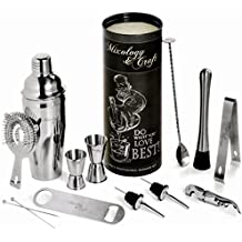 Mixology Bartender Kit: 14-Piece Bar Set For an Awesome Drink Mixing Experience - Bartending Bar Tools w/Large Capacity Cocktail Shaker - Bonus: 1- Gorgeous Recipe Catalog 2- Premium Cocktail Picks