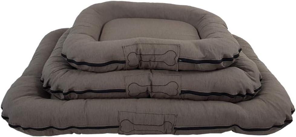 siège pour coffre pour animaux de compagnie avec housse amovible 80 x 60 x 12cm Taille:S Couleur:Taupe Matelas confortable Lit pour chien Murphy Premium de SunDeluxe disponible en couleur taupe de 80 100 ou 120 cm
