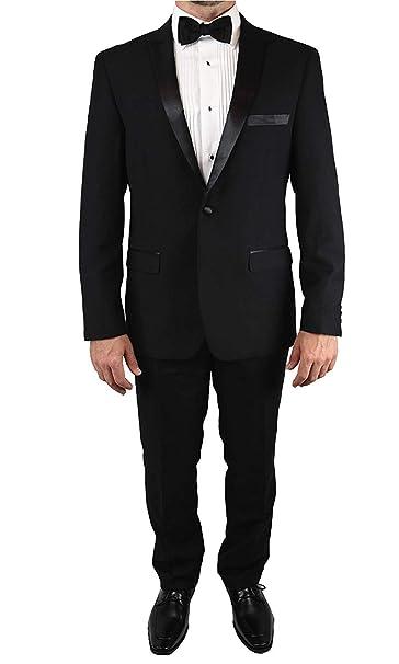 Amazon.com: Esmoquin entallado moderno - Disponible en negro ...