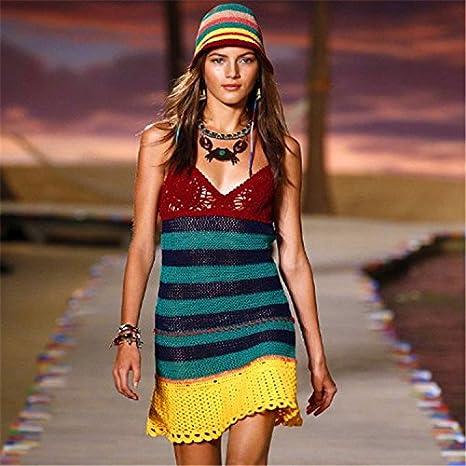 QXJ Vestido de fiesta que batas de playa Bikini de ganchillo punto playa , picture 1 ,: Amazon.es: Deportes y aire libre