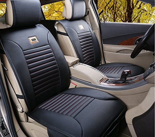 Opall Full Set 10PCS Needlework PU Leather Front Rear Car Seat Cushion Cover  For Nissan Altima Maxima Frontier Pathfinder Murano Sentra Rogue Versa Cube  ...
