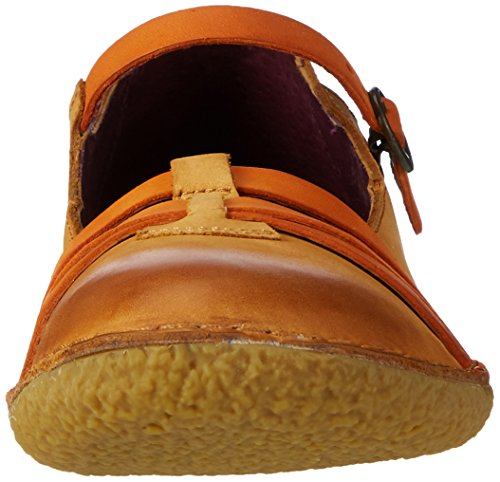 Ballerine Donna Hibou marron Braun Kickers Orange Clair 6UawR