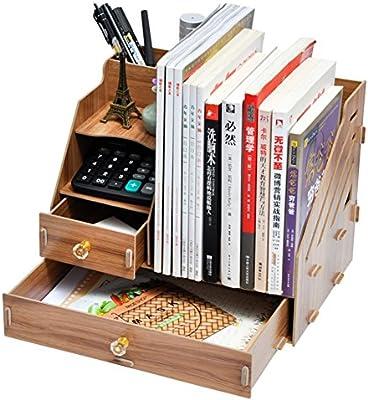 Rart Organizador de escritorio cajón madera bricolaje,Estante de ...