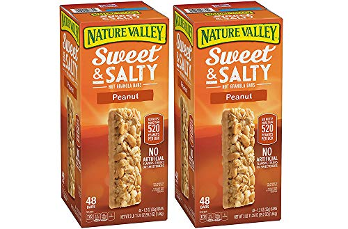 Nature Valley Sweet and Salty Granola Bars Peanut dipped in Peanut Butter Coating, 48 Bars (2 Boxes) by Nature Valley (Image #1)
