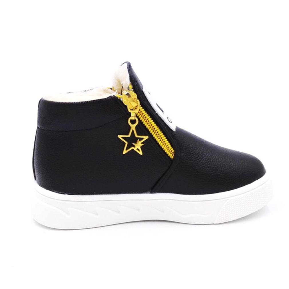 Auwer Children Winter Thicker Shoes Casual Sport Boy Girls Fashion Martin Boots Sneakers Shoes