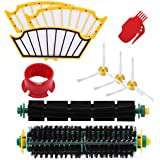 GHM Roomba 500 Series Replenishment Kits For iRobot Roomba 560, 510,530, 535, 540, 560, 570, 580, 610 Vacuum Cleaner Parts with 1 Set Bristle Brush&Flexible Beater Brush & 3 Side Brushes & 3 Filters