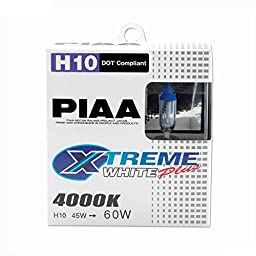 PIAA 15210 H10 (9145) Xtreme White Plus High Performance Halogen Bulb, (Pack of 2)