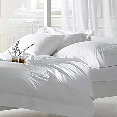 Cottington Lane Bed Sheet Set Queen White 4 Pieces 400 TC 100% Cotton Upto 15 Inches Deep Pocket - Queen Size Sheet Set Includes- 1 Fitted sheet (60X80X15) Inch, 1 Flat sheet (90X102) Inch and 2 Pillowcases (20X30) Inch only. Material and Quality: Make your retreat soft and sustainable with an 100% Natural Cotton Sheet Set from Cottington Lane. Premium natural cotton yarns ensure bed sheets of the utmost comfort. Available in a variety of classic and fun colors and patterns to freshen up your space. Social Responsibility: Manufactured at a social compliant factory. We're committed to making products better for you, and the world. Everything from the dyes and fabrics to accessories like sewing thread and zippers are tested and verified for long lasting and highest safety standards. - sheet-sets, bedroom-sheets-comforters, bedroom - 51Ul1WsQLTL. SS400  -