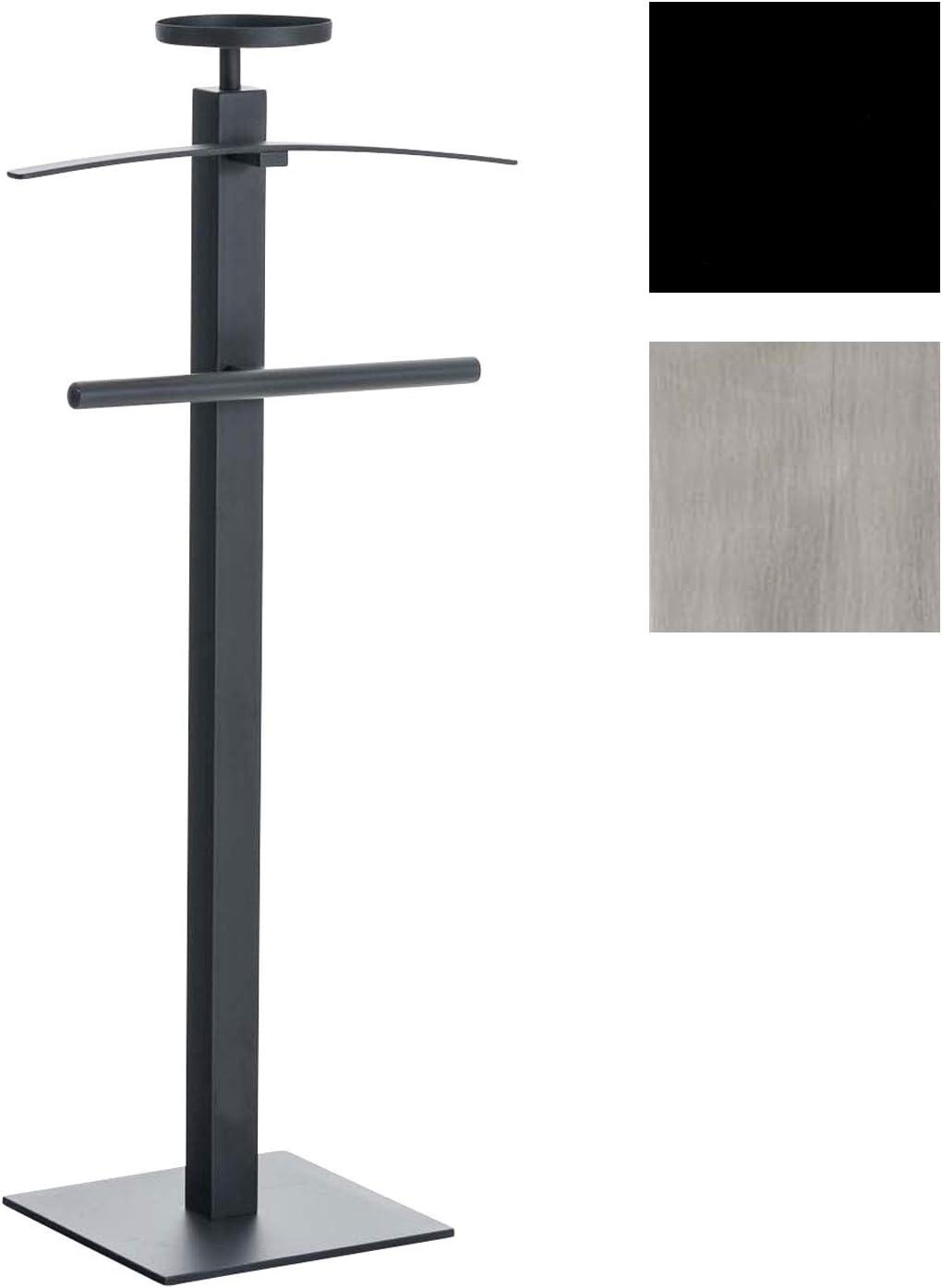 Color Negro Eideo Home Gal/án de Noche Metal y Madera, 110 cm