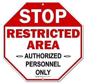 Señal de área restringida, letrero de solo personal ...