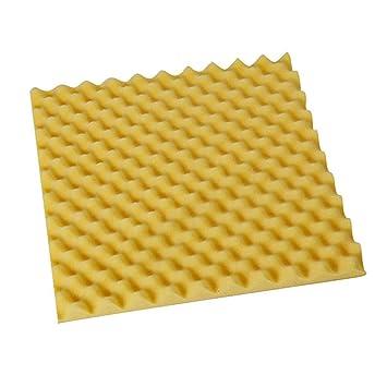 JENOR - Azulejos acústicos de espuma de ruido de alta densidad 50 x 50 x 3 cm, amarillo: Amazon.es: Instrumentos musicales