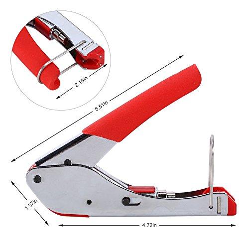 Yosoo Rg6 Cable Coaxial Crimpador Kit de Herramientas de Compresión Coaxial Pelacables...