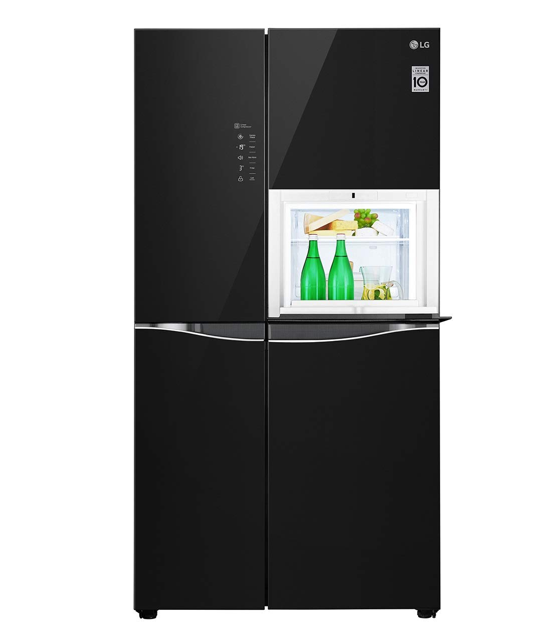 Lg 675 L Inverter Frost Free Side By Side Refrigerator Gc C247ugbm Black Amazon In Home Kitchen