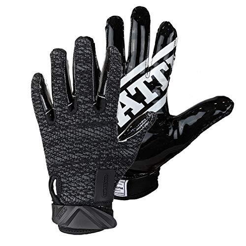 Battle Ultra-Hitch Adult Football Receiver Gloves - Black, Black, Adult Small, Black, Adult Small