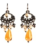 Treska Women's Small Chandelier Earrings Tan One Size
