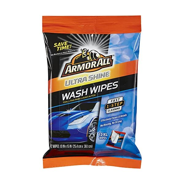 Armor All 18240 1 Pack Of 12 Ultra Shine Wash Wipes 12 XL Wipes