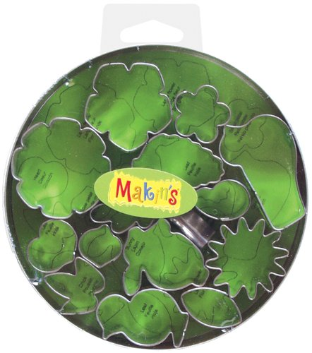 Makin\'s USA Clay Cutters, Flower and Leaf, 15 Per Package Makin' s USA Clay Cutters 37005
