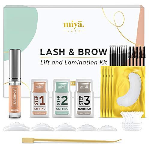 MIYA LASH 2 in 1 Lash Lift & Brow Lamination Kit   Instant Fuller Eyebrows, Eyelashes   Salon Result lasts 8 weeks…